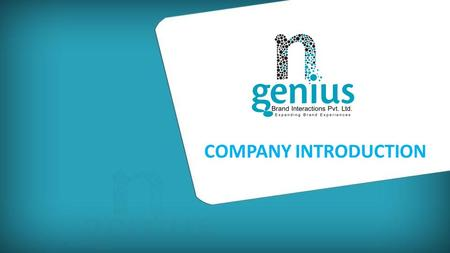 COMPANY INTRODUCTION. Experiential Marketing Organization.