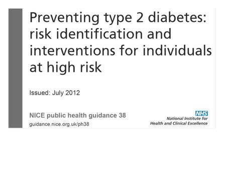 Diabetes treatment guidelines 2013 ppt