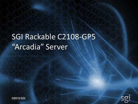 "SGI Rackable C2108-GP5 ""Arcadia"" Server"
