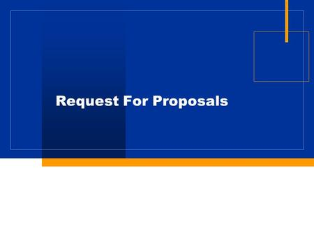 Request For Proposals. Request for Proposals Book 1 Contract Book 2 Project Requirements Book 3 Applicable Standards Reference Information Documents (RID)