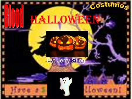 Halloween By: Jerry Stieg. The History Halloween originated in Pagan Ireland as the festival of Samhain (pronounced sow-in), and becoming All Hallow's.