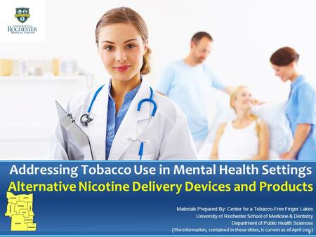 Addressing Tobacco Use in Mental Health Settings Alternative Nicotine Delivery Devices and Products Materials Prepared By: Center for a Tobacco-Free Finger.