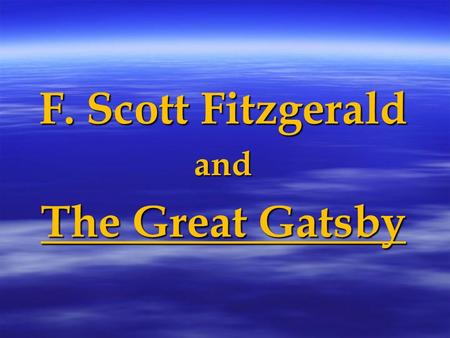 the rich and famous in the 1920s in the novel the great gatsby by f scott fitzgerald Here are five reasons the great gatsby, that gaudy roaring twenties tale of lost love should be ranked as the great american novel subscribe now the wildest parties and bad behavior among the rich and famous today have nothing on is f scott fitzgerald's 'the great gatsby.