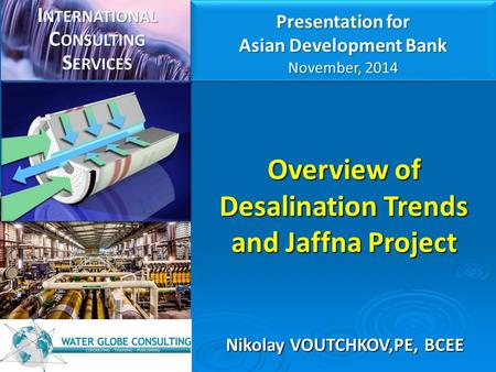 Overview of Desalination Trends and Jaffna Project
