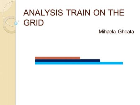 ANALYSIS TRAIN ON THE GRID Mihaela Gheata. AOD production train ◦ AOD production will be organized in a 'train' of tasks ◦ To maximize efficiency of full.