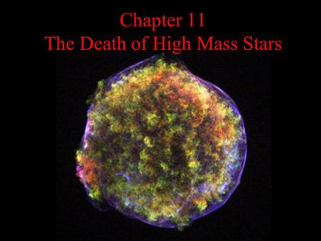 Chapter 11 The Death of High Mass Stars