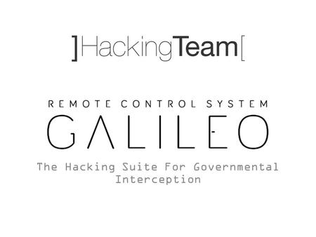 The Hacking Suite For Governmental Interception. Today's topic: RCS installation vectors.