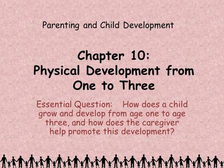 Chapter 10: Physical Development from One to Three Essential Question: How does a child grow and develop from age one to age three, and how does the caregiver.