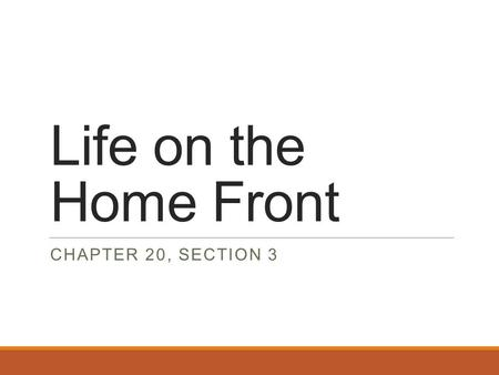 Life on the Home Front CHAPTER 20, SECTION 3. Women and Minorities Gain Ground The war put an end to the Great Depression 19 million new jobs were created.