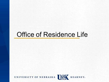 Office of Residence Life. Session Outline Roommate 101 Effects of Homesickness Getting involved with RHA & CAN Amenities Available Staying Safe on Campus.