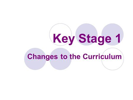 Key Stage 1 Changes to the Curriculum. End of KS1 Expectations No more levels! The children will be assessed as: Below national standards Working towards.