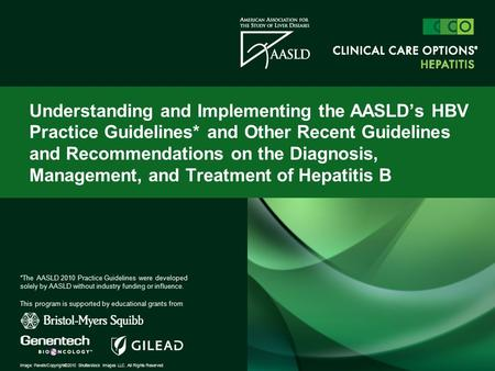 Understanding and Implementing the AASLD's HBV Practice Guidelines* and Other Recent Guidelines and Recommendations on the Diagnosis, Management, and Treatment.