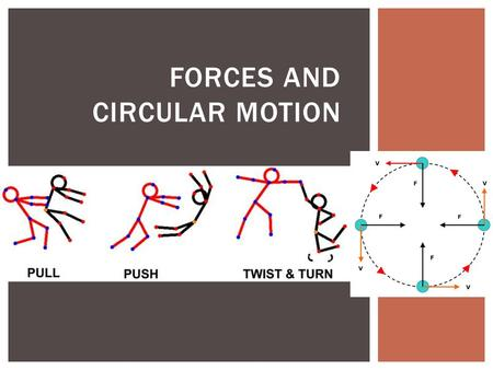 FORCES AND CIRCULAR MOTION. A. Definition: a push or pull acting on a mass 1. Force is a vector quantity with both magnitude (numeric value) and direction.