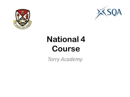 National 4 Course Torry Academy. Analysis and Evaluation UNIT To pass this unit, you will be able to: Understand, analyse and evaluate straightforward.