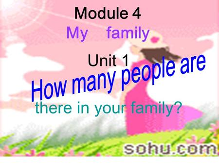 Module 4 My family Unit 1 there in your family? 1.Are there any … in our classroom? 2.Is there a(n) …on my desk? 3.How many students are there in your.