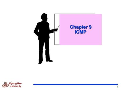 1 Kyung Hee University Chapter 9 ICMP. 2 Kyung Hee University 9.1 Introduction  IP protocol has no error-reporting or error-correcting mechanism When.