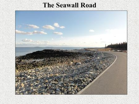 The Seawall Road. April 17, 2007 Terms Used Setup + Swash = R 2.