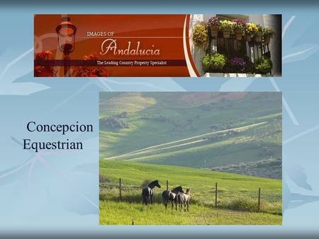 Concepcion Equestrian. An exceptional equestrian property with outstanding views toward El Torcal and the surrounding countryside, with separate guest.