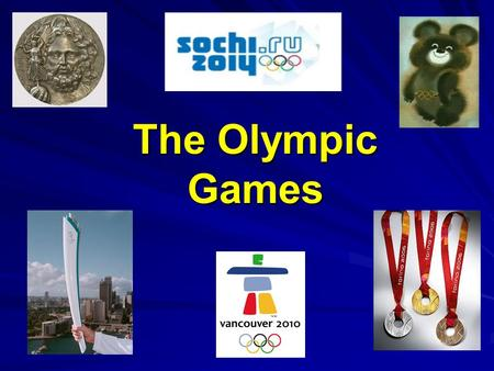 The Olympic Games. Ancient Olympic Games The first Olympic Games were held in Greece in Olympia. First it was mentioned in 776 B.C. According to the legend,