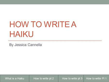 how to write a haiku