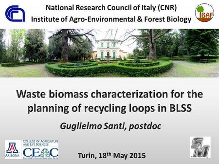Waste recycling on BLSS Waste biomass Higher plants cultivation on Earth.