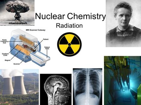 Nuclear Chemistry Radiation. Background – Atomic Structure Electrons Nucleus Protons + neutrons.
