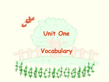 Unit One Vocabulary Who is he? / Who are they? tennis.