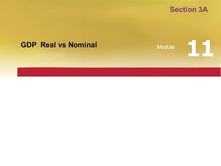 Section 3A 11 GDP Real vs Nominal Module.