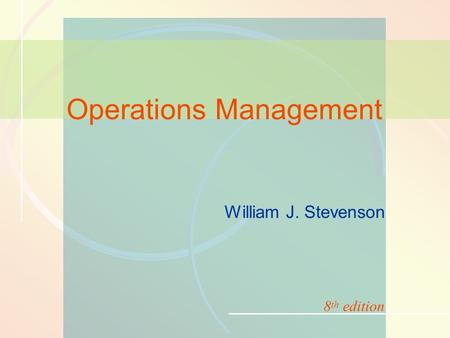 13-1MRP and ERP William J. Stevenson Operations Management 8 th edition.