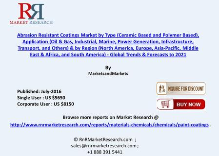 Abrasion Resistant Coatings Market: Asia-Pacific Region Grow at Highest Rate