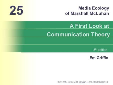 Media Ecology of Marshall McLuhan