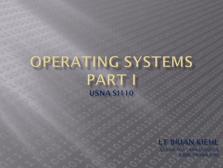 2Operating Systems  Program that runs on a computer  Manages hardware resources  Allows for execution of programs  Acts as an intermediary between.
