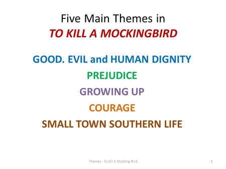 the main theme of to kill a mockingbird