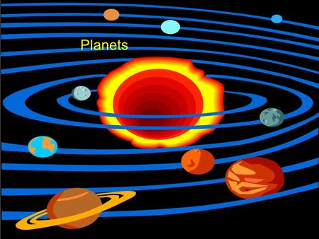 Planets. The terrestrial planets and some large moons.