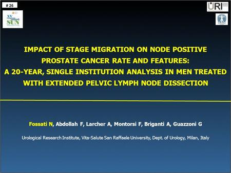 IMPACT OF STAGE MIGRATION ON NODE POSITIVE PROSTATE CANCER RATE AND FEATURES: A 20-YEAR, SINGLE INSTITUTION ANALYSIS IN MEN TREATED WITH EXTENDED PELVIC.