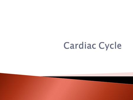  Describe the cardiac cycle (how the heart beats)  Understand the relationship with changing pressures and the valve closures.