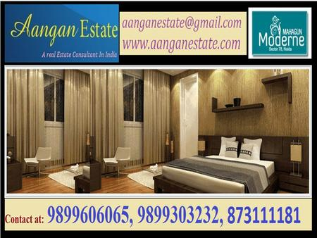"Mahagun Developer Launched a New Residential Project ""Mahagun Moderne"" at Sector 78, Noida with 2/3/4 BHK Luxurious apartments."