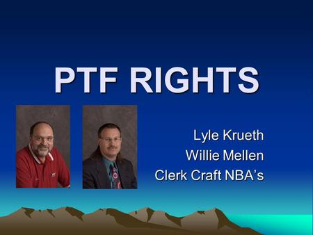 PTF RIGHTS Lyle Krueth Willie Mellen Clerk Craft NBA's.
