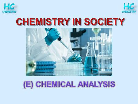 Chemical analysis as part of Quality Control Overview Learn how analytical chemistry techniques such as chromatography and volumetric analysis can be.