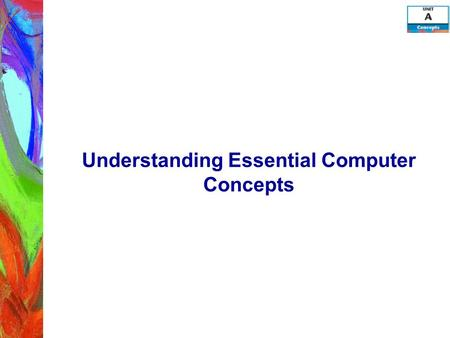Understanding Essential Computer Concepts. Objectives Investigate types of computers Examine computer systems Examine input devices Examine output devices.