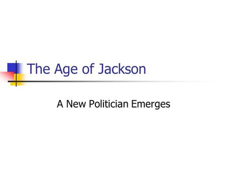 an examination of the jacksonian democracy This study set is based on the era of jacksonian democracy and built to help you to continually study this unit.