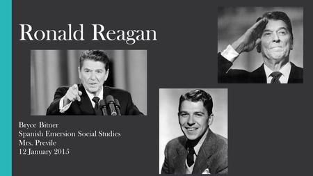 an introduction to the ronald reagan wilson 40th president of the united states Ronald reagan: the 40th president of the united states essay 532 words | 3 pages on february 6, 1911, ronald reagan was born in tampico, illinois.