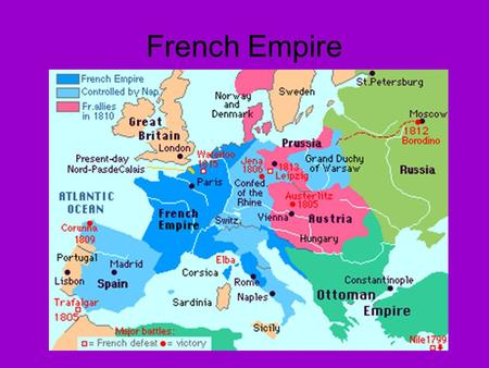 French Empire. Napoleon's Three Costly Mistakes The Continental System –1806 – 1813 –Blockade closing all trade and communication with Great Britain –Britain.