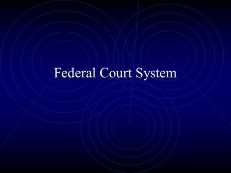 Federal Court System. Basic Vocabulary Plaintiff One who brings a lawsuit in civil law. In criminal law, the plaintiff is called the prosecutor. Defendant.