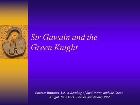 sir gawain research paper