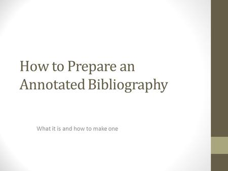 Annotated bibliography generator software