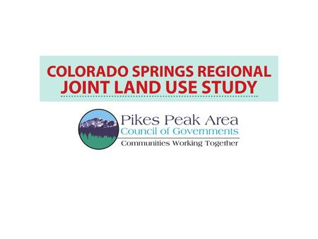 What's a joint land use study? A community-focused process Examines local issues related to land use when military installations and communities are neighbors.