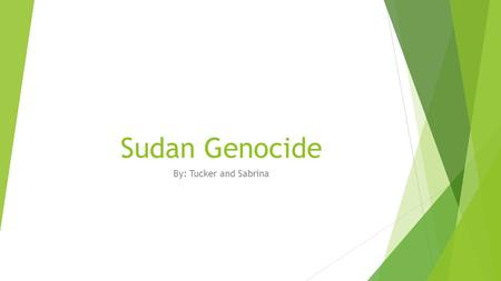 Sudan Genocide By: Tucker and Sabrina. The Roots of Conflict  After gaining independence from Britain in 1956, the Sudan government has favored the Arabic.