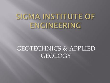GEOTECHNICS & APPLIED GEOLOGY. Prepared by: Group D 1.130500106005 2.130500106006 3.130500106019 4.130500106021.