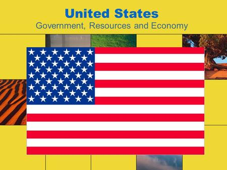 "United States Government, Resources and Economy. Instructions Do not write these notes down. Silently read each slide and complete each of the ""Active."